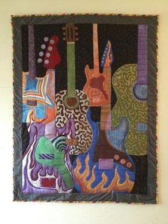 guitar art quilt
