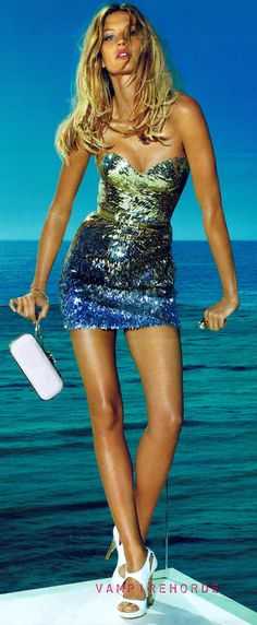 Gisele Bundchen in Versace--I could look like a mermaid in this