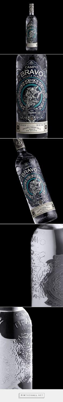 Campo Bravo Tequila packaging design by Stranger & Stranger (USA) - http://www.packagingoftheworld.com/2016/09/campo-bravo.html