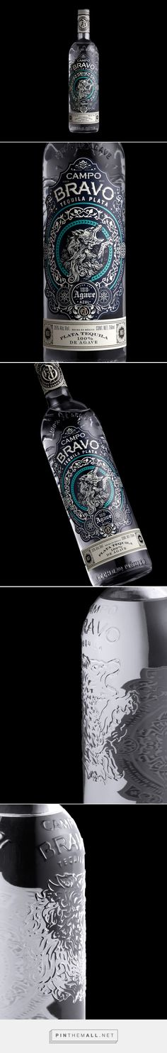 Campo Bravo Tequila packaging design by Stranger & Stranger (USA) - http://www.packagingoftheworld.com/2016/09/campo-bravo.html