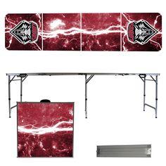 New Mexico Lobos Lightning Bolt Portable Folding Table