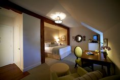 Beautiful hotel room at The Boar's Head (Charlottesville, VA) - ResortsandLodges.com #travel #vacation #Virginia