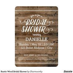 Rustic Wood Bridal Shower Card