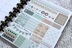 Planner Sticker Set /Minted Wood / Weekly Planner Set / Erin Condren Life Planner / ECLP / Happy Planner / Day Designer /Functional stickers