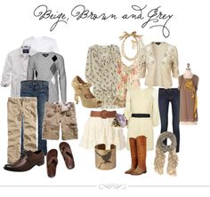 What to Wear  -  Beige, Brown and Grey