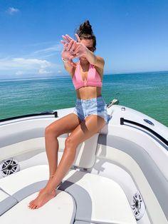 Solo Pics, Bikinis, Swimwear, Boat, Fashion, Bathing Suits, Moda, Swimsuits, Dinghy