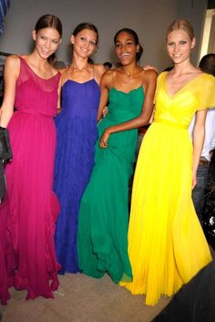 colorful maxi dresses.