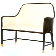 Leather Bench by Josef Hoffmann | From a unique collection of antique and modern benches at http://www.1stdibs.com/furniture/seating/benches/