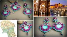 costume jewelery set soutache bound for Cordoba, Spain Andalucia-
