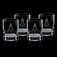 ThinkGeek :: Star Trek U.S.S. Enterprise Glassware Set