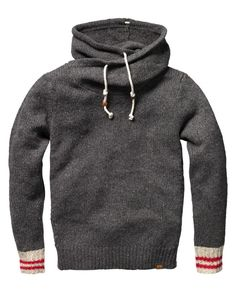 Scotch & Soda / Hooded Pull Knit But how about fleese in my stash and sock cuffs?