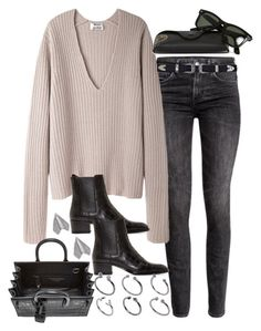 """""""Untitled #1989"""" by alx97 ❤ liked on Polyvore featuring H&M, Acne Studios, Yves Saint Laurent, ASOS, Ray-Ban, women's clothing, women's fashion, women, female and woman"""