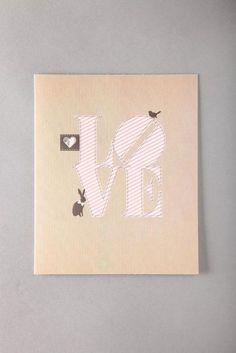 BIG LOVE typo card