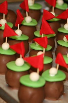 cakeballs..golf theme