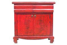 Elyse 2-Door Cabinet, Red on OneKingsLane.com