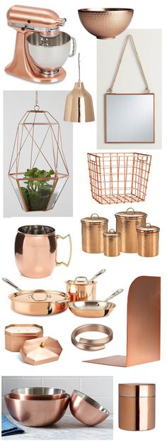 Home trend! Copper accents for all rooms in your house
