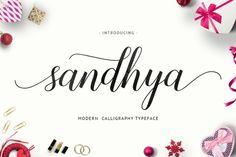 Free Sandhya Script | Script Fonts on TheHungryJPEG.com | 2842