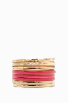 FINAL SALE Stack it up, stack it up! Fun and dainty bracelet set, featuring three eye-catching epoxy bangles. 15 bangles in each set.