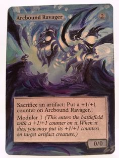 Arcbound Ravager  This Is Only One Of My Altered Cards From This Weeks Batch! To See Them All Go To   www.stores.ebay.com/MTGAlteredMagicCards #MTG #MtgAltered #MtgAlteredArt #MtgHandPainted #MtgExtendedArt #Magic #MagicTheGathering #MtgAlter #Scg #Tcg #WOTC