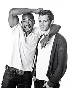 The dynamic duo cast of Charles Michael Davis as Marcel and Joseph Morgan as Klaus killing, swooning, and ruling New Orleans as vampire kings in the Vampire Diaries spinoff, The Originals!!
