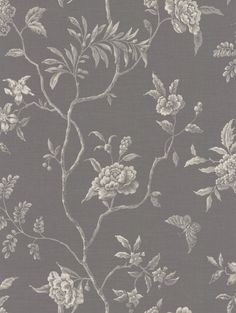 Swedish Tree Charcoal wallpaper by Colefax and Fowler