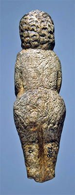 Female figurine, Mal'ta. Siberia, Mammoth ivory abut 21,000 BCE Note the texture on the back