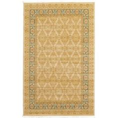 "World Menagerie Fonciere Cream Area Rug Rug Size: 10'6"" x 16'5"""