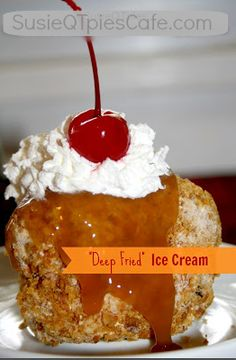 Cinco de Mayo Deep Fried Ice Cream   - not really fried and it's a perfect Mexican dessert. @Gooseberry Patch recipe from Weeknight Dinners