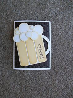 """The Happy Stamper: """"Cheers"""" birthday card"""