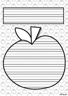 FREE Apple Writing Paper 1st Grade Writing, Kindergarten Writing, Teaching Writing, Literacy, Apple Activities, Writing Activities, Classroom Activities, Cool Writing, Writing Paper
