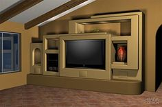 Custom Drywall Entertainment Centers | ... Guesswork With A 3D Design Of Your Home Entertainment Center Project