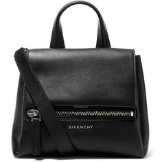 Givenchy Mini Black Pandora Pure Waxed Leather Cross-Body Bag (£1,085) ❤ liked on Polyvore featuring bags, handbags, shoulder bags, black crossbody, mini crossbody, black crossbody purse, crossbody shoulder bags and black leather purse