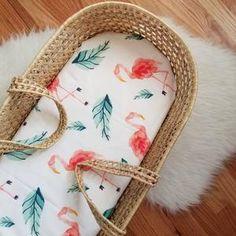 Cotton Baby Bedding in Animal Print Designs - Handmade in Boulder, CO Flamingo Nursery, Tropical Nursery, Floral Nursery, Baby Bedding, Girl Nursery, Nursery Decor, Nursery Ideas, Jungle Nursery, Disney Nursery