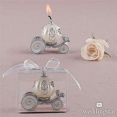 Cinderella Wedding Carriage Candle - Wedding favors
