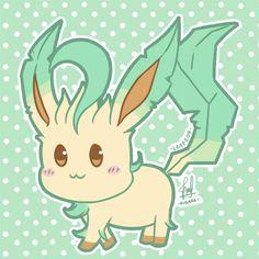 Chibi - Leafeon