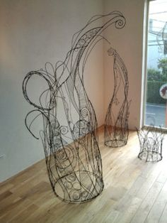 Wire art exhibition