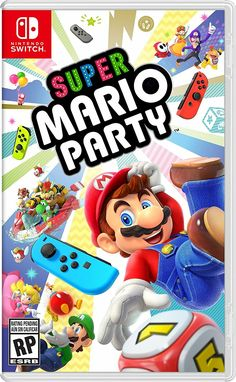A complete refresh of the Mario Party series. You can also pair up two Nintendo Switch systems and delight in this dynamic play style, such as in the new Toad's Rec Room mode. More Product Information for the Nintendo Super Mario Party for Switch. Nintendo Switch Super Mario, Nintendo Switch System, New Super Mario Bros, Nintendo Switch Games, Mario Switch, Super Mario Party, Mario Party Games, Wii Party, Party Box