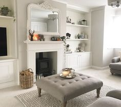 37 Simple Living Room Shelving Ideas for Space Saving Simple Living Room, New Living Room, Home And Living, Small Living, Modern Living, Colours For Living Room, Log Burner Living Room, Living Area, Lounge Decor