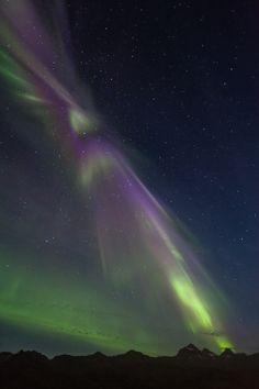 Aurora Borealis in Faskrudsfjordur by Jonina