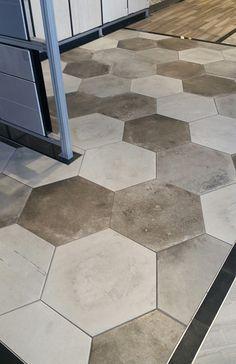 "Find it difficult to choose a color? Blend them!! Varese 20"" hexagon #tile. https://arizonatile.com/en/products/porcelain-and-ceramic/varese"