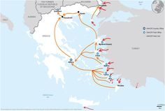 Greece dealing with refugeecrisis SOURCE: UNHCR Refugee Crisis, Greece, Facts, Map, Travel, Greece Country, Viajes, Traveling, Maps