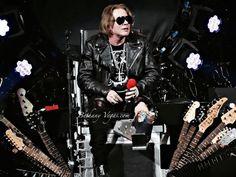 Axl Rose of Guns N' Roses at T-Mobile Arena concert, Las Vegas 8.04.2016