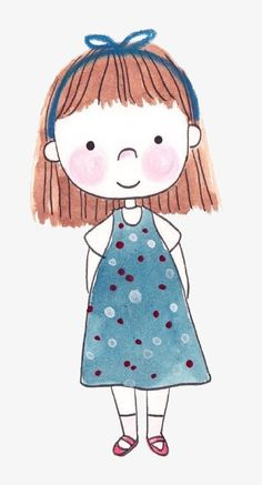 Cartoon cute girl PNG and Clipart Cute Illustration, Character Illustration, Girl Cartoon, Cute Cartoon, Doodle Art, Cute Easy Drawings, Elephant Art, Art Challenge, Drawing For Kids