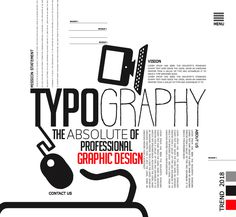 Typography – The Absolute of Professional Graphic Design #trend2018 #typography #typeface #font #script #graphicdesign #webdesign #fontsforweb #fontsforbranding