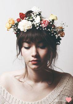 mural de beauté: coroa de flores, mania internacional