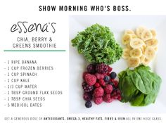 Show morning who's boss with this amazing green smoothie from Essena! Read more on the blog: http://sportsgirl.in/1juuZiv