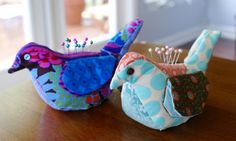 Bird Pincushions | The DIY Adventures - upcycling, recycling and do it yourself from around the world