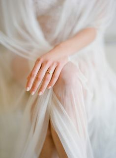 Simple elegant diamond ring: http://www.stylemepretty.com/2016/11/11/stunning-boudoir-jose-villa/ Photography: Jose Villa - http://josevilla.com/