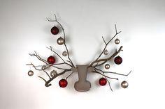 Weihnachtsdeko:Wandkissen, Elch / moose pillow, christmas decoration by elchling via DaWanda.com