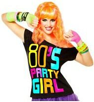 80s Fashion For Women T Shirts s Party Girl T Shirt
